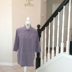 Soft Surroundings Tunic Style Button Down Blouse
